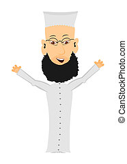Cartoon Imam - Cartoon imam on a white background Easy to...