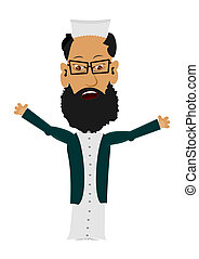 Cartoon Imam - Cartoon imam on a white background. Easy to...
