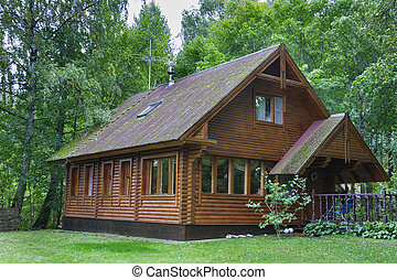 country wooden house