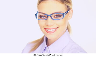 Businesswoman with a beaming smile