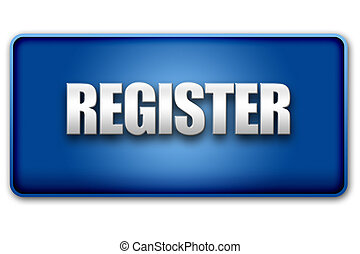Register 3D Blue Button on White Background - Register 3d...