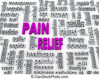 3d pain relief concept illustration design