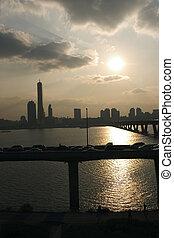 Han River in South Korea