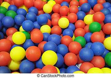 plastic balls - colorful plastic balls from the children's...