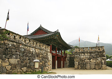 Traditional village in South Korea,Naganeupseong,Castle