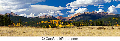 Colorado Rocky Mountain Fall Panoramic Landscape - Panoramic...