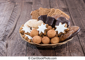 Basket with Christmas Sweets