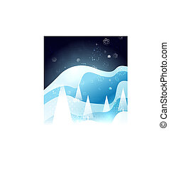 Blue snow winter Christmas glossy design