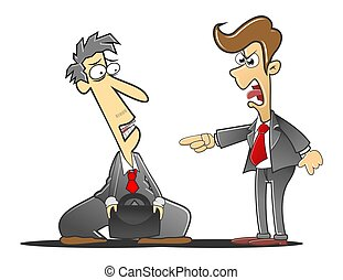 reprimanded the boss - employee who is being reprimanded...