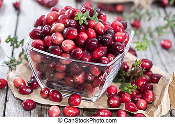 Fresh Cranberries - Heap of fresh and ripe Cranberries