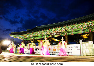 Traditional dance in south korea