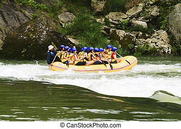 Dong River rafting in South Korea