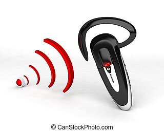 bluetooth and waves - 3d bluetooth and waves