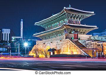 Namdaemun Gate - Seoul, South Korea at Namdaemun Gate.