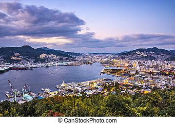 Nagasaki Japan - Nagasaki, Japan skyline at the bay.