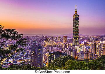 Taipei Skyline - Modern office buildings in Taipei, Taiwan...