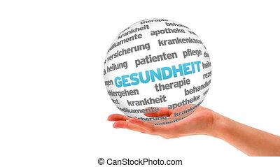 Health Word Sphere (In german)
