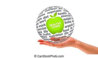 Healthy Living Word Sphere