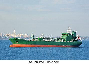 LPG (liquid petroleum gas) tanker at sea - LPG (liquid...