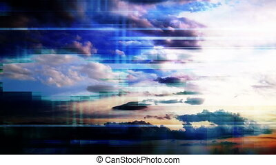Time Lapse Clouds Abstract - Time lapse clouds geometric...