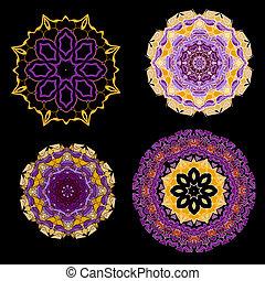 Lace purple floral colorful ethnic ornament - Lace purple...