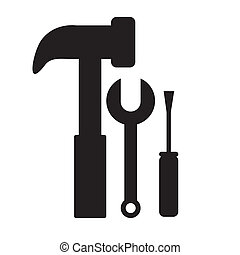 tools design - tools design over white background vector...