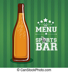 bar design over green background vector illustration