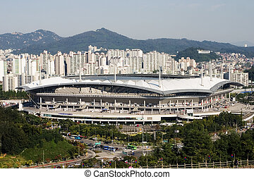 "Stadium in South Korea - ""Sangam"" Stadium in South Korea"