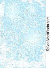 Gentle blue christmas background