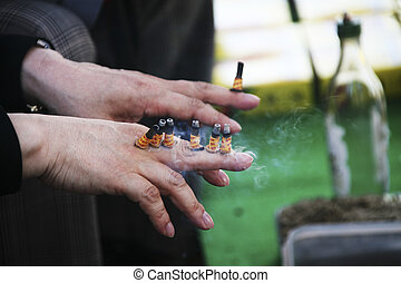 Moxibustion medicine - Traditional culture in south...