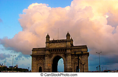 Gateway of India during monsoon - Gateway of India with the...