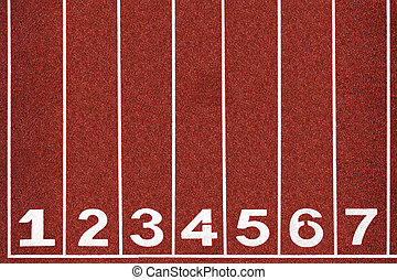 Running track with number 1-7, abstract, texture, background.