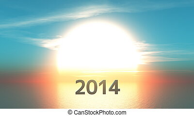sun rise and 2014