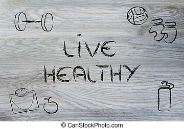 live a healthy and fit life - fitness equipment: live...