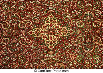 Detailed image of a Persian carpet - An up close image of a...