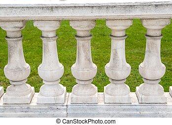 Stone pillar railings - An image of stone pillar railings