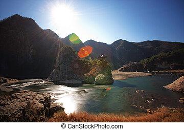 Beautiful mountains in south korea,wolryubong