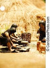 Neolithic hunter model in south korea