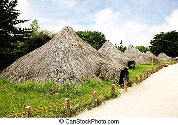 Neolítico, sitios, sur, corea