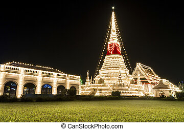The stupa at Phra Samut Chedi in Samut Prakan, Thailand,...