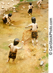 Neolithic hunter model in south korea