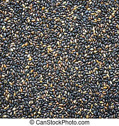 Sesame seed background - Black sesame seed background