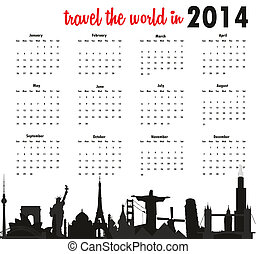 Travel the world in 2014 calendar