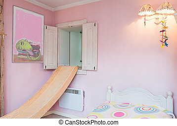 Vintage mansion - pink wall - Vintage mansion - apink wall...