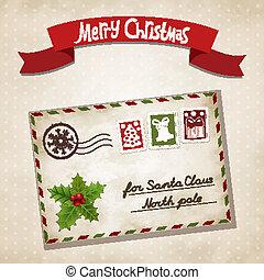 Christmas letter - Vector illustration for Christmas letter...