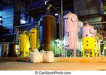 water treatment tanks at power plant