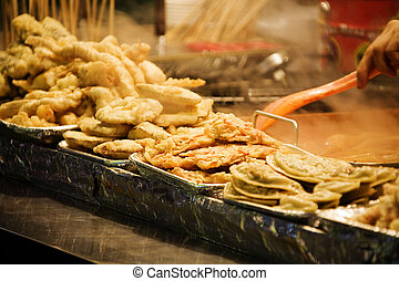 Street food stalls shops in south korea