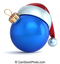 Christmas ball ornament New Year bauble decoration blue...