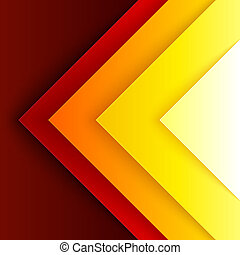 Abstract red and orange triangle shapes background -...
