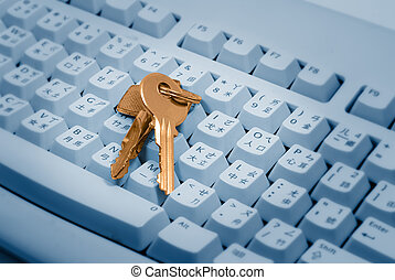 Keys on a Keyboard - Keys are on the computer keyboard. They...